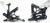 Комплект подножек GILLES REARSET FXR, ZX-10R 16- цвет черный